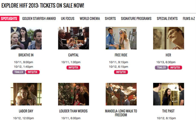 HIFF 2013 On Sale