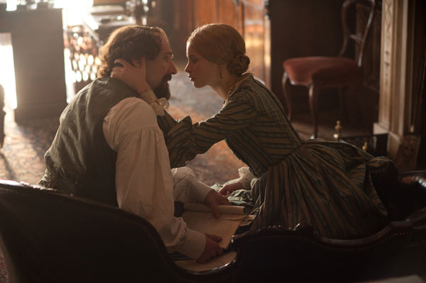 Ralph Fiennes and Felicity Jones in 'The Invisible Woman'
