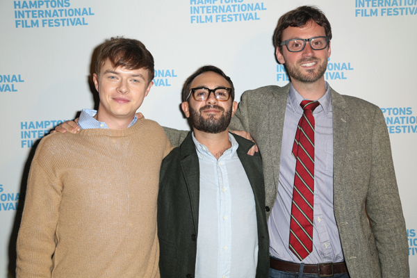 (L-R) Actor Dane DeHaan, director John Krokidas, and Hamptons International Film Festival Artistic Director David Nugent attend the 21st Annual Hamptons International Film Festival Opening Day on October 10, 2013 in East Hampton, New York. (Photo by Monica Schipper/Getty Images for The Hamptons International Film Festival)