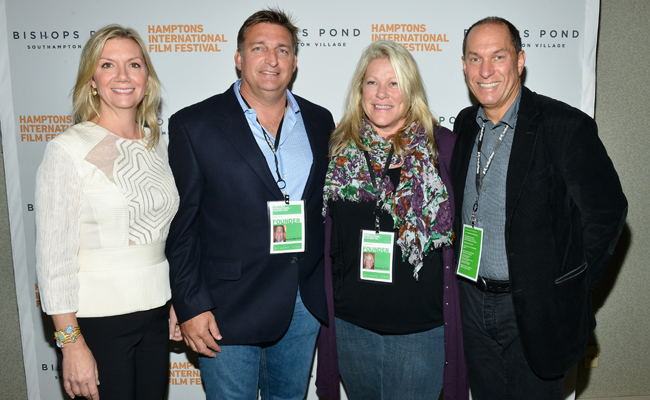 Hamptons International Film Festival Executive Director Anne Chaisson, Mark Epley, Marianne Epley, and Hamptons International Film Festival Board of Directors Chairman Stuart Match Suna attend the 21st Annual Hamptons International Film Festival on October 11, 2013 in East Hampton, New York. (Photo by Eugene Gologursky/Getty Images for The Hamptons International Film Festival)