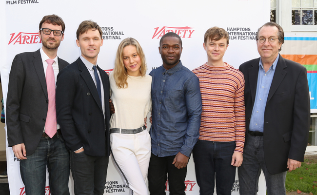 (L-R) Hamptons International Film Festival Artistic Director David Nugent, actors Scott Haze, Brie Larson, David Oyelowo, and Dane DeHaan, and Variety Vice President and Executive Editor Steven Gaydos attend the 21st Annual Hamptons International Film Festival on October 12, 2013 in East Hampton, New York. (Photo by Monica Schipper/Getty Images for The Hamptons International Film Festival)