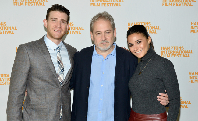 (L-R) Actor Bryan Greenberg, filmmaker Michael Maren, and actress Emmanuelle Chriqui attend the 21st Annual Hamptons International Film Festival on October 12, 2013 in East Hampton, New York. (Photo by Eugene Gologursky/Getty Images for The Hamptons International Film Festival)