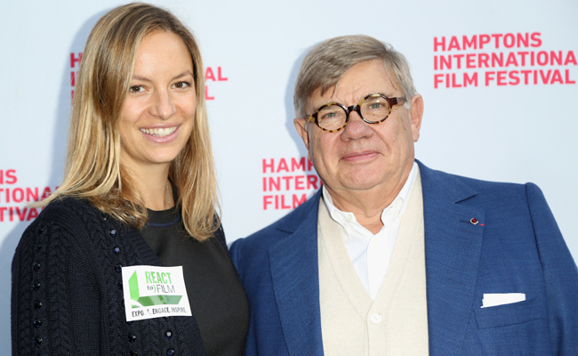 Coralie Charriol Paul (L) and Jean-Yves Ollivier attend the 21st Annual Hamptons International Film Festival on October 13, 2013 in East Hampton, New York. (Photo by Monica Schipper/Getty Images for The Hamptons International Film Festival)