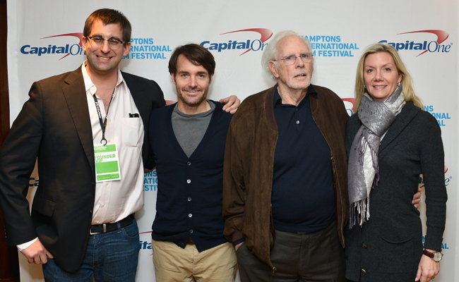 (L-R) Joshua Rothkopf, actors Will Forte and Bruce Dern, and Hamptons International Film Festival Executive Director Anne Chaisson attend the 21st Annual Hamptons International Film Festival on October 13, 2013 in East Hampton, New York. (Photo by Eugene Gologursky/Getty Images for The Hamptons International Film Festival)