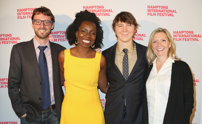 (L-R) Hamptons International Film Festival Artistic Director David Nugent, actors Adepero Oduye and Paul Dano, and Hamptons International Film Festival Executive Director Anne Chaisson attend the 21st Annual Hamptons International Film Festival Closing Day on October 14, 2013 in East Hampton, New York. (Photo by Monica Schipper/Getty Images for The Hamptons International Film Festival)