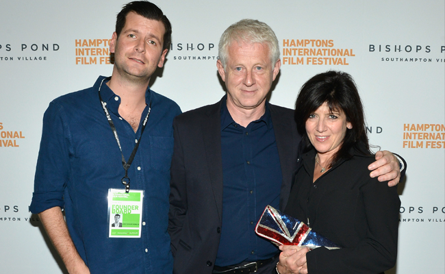 (L-R) Richard Curtis, Alina Cho, and Emma Freud attend the 21st Annual Hamptons International Film Festival on October 11, 2013 in East Hampton, New York. (Photo by Eugene Gologursky/Getty Images for The Hamptons International Film Festival)