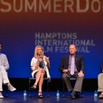 David Nugent, director Rory Kennedy, film subject Col. Stuart Herrington, and series host Alec Baldwin in conversation following SummerDocs screening of Last Days in Vietnam: August 16, 2014. Photo: Eugene Gologursky