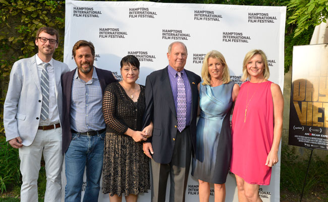 David Nugent, Mark Bailey, Col. & Mrs. Stuart Herrington, Rory Kennedy and Anne Chaisson at SummerDocs screening of Last Days in Vietnam: August 16, 2014. Photo: Eugene Gologursky