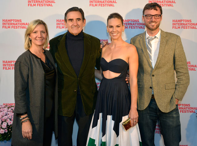 Anne Chaisson, Peter Brant, Hilary Swank and David Nugent attend 'The Homesman' premiere during the 2014 Hamptons International Film Festival on October 12, 2014 in East Hampton, New York. (Photo by Eugene Gologursky/Getty Images)