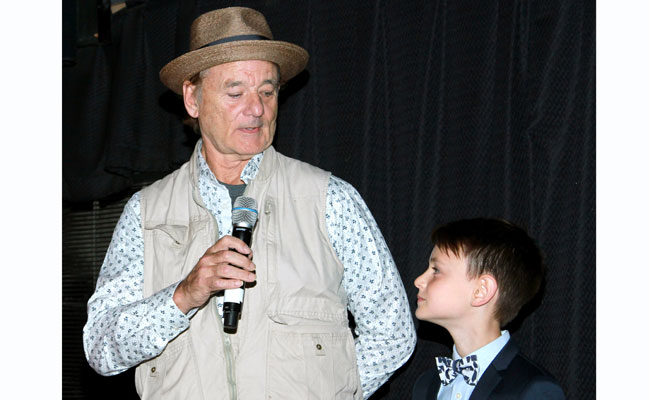 Bill Murray and Jaeden Lieberher