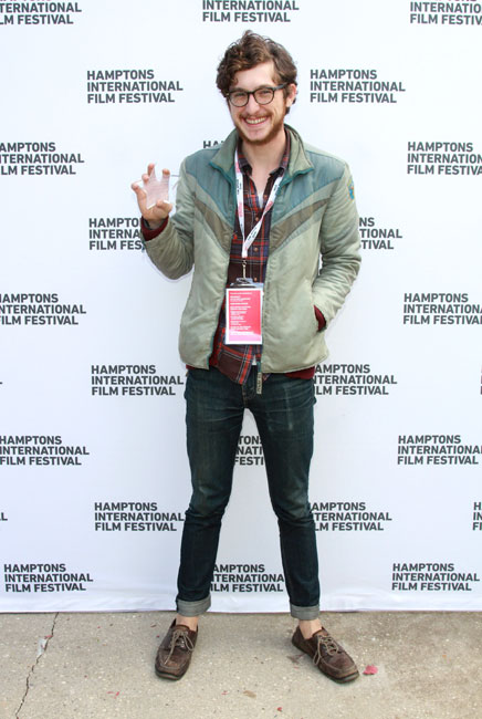 Filmmaker David Formentin wins Best Narrative Short for 'Tzniut' at the GSA Awards Presentation during the 2014 Hamptons International Film Festival on October 13, 2014 in East Hampton, New York. (Photo by Rob Kim/Getty Images)