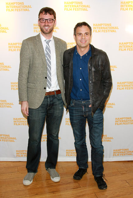 Artistic Director of the Hamptons International Film Festival David Nugent and actor Mark Ruffalo attend A Conversation with Mark Ruffalo during the 2014 Hamptons International Film Festival on October 12, 2014 in East Hampton, New York. (Photo by Rob Kim/Getty Images)
