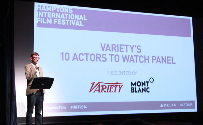 Artistic Director of the Hamptons International Film Festival David Nugent speaks at Variety's 10 Actors To Watch Panel during the 2014 Hamptons International Film Festival on October 12, 2014 in East Hampton, New York. (Photo by Rob Kim/Getty Images)