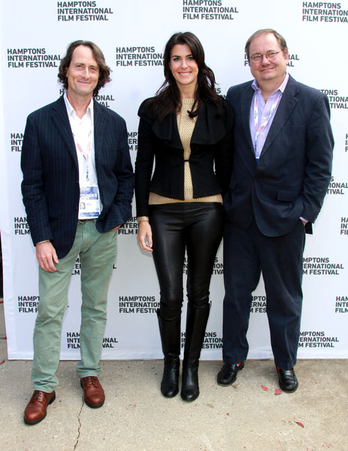 David Rattray, Lilly Hartley and Stephen Whitty attend the GSA Awards Presentation during the 2014 Hamptons International Film Festival on October 13, 2014 in East Hampton, New York. (Photo by Rob Kim/Getty Images)