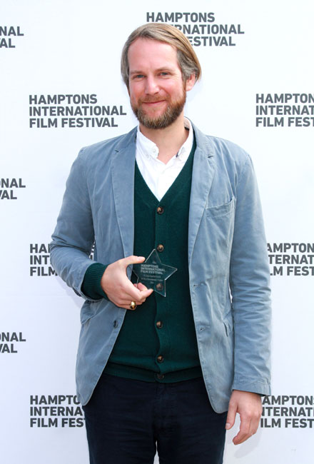 Filmmaker Henning Kamm wins the Best Documentary Feature for 'The Special Need' at the GSA Awards Presentation during the 2014 Hamptons International Film Festival on October 13, 2014 in East Hampton, New York. (Photo by Rob Kim/Getty Images)