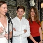 Hilary Swank, Tye Sheridan, Lola Kirke and Kaitlyn Dever attend Variety's 10 Actors To Watch Brunch with Hilary Swank during the 2014 Hamptons International Film Festival on October 12, 2014 in East Hampton, New York. (Photo by Eugene Gologursky/Getty Images)