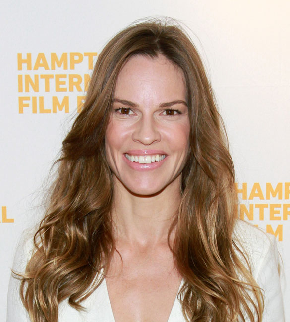 Actress Hilary Swank attends A Conversation with Hilary Swank during the 2014 Hamptons International Film Festival on October 12, 2014 in East Hampton, New York. (Photo by Rob Kim/Getty Images)