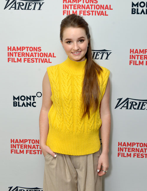 Actress Kaitlyn Dever attends Variety's 10 Actors To Watch Brunch with Hilary Swank during the 2014 Hamptons International Film Festival on October 12, 2014 in East Hampton, New York. (Photo by Eugene Gologursky/Getty Images)