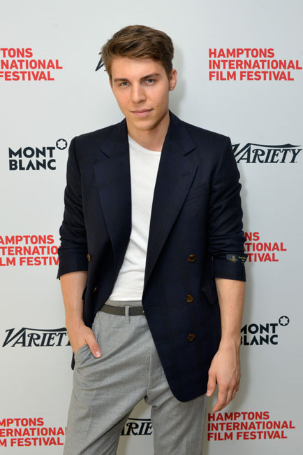 Actor Nolan Gerard Funk attends Variety's 10 Actors To Watch Brunch with Hilary Swank during the 2014 Hamptons International Film Festival on October 12, 2014 in East Hampton, New York. (Photo by Eugene Gologursky/Getty Images)