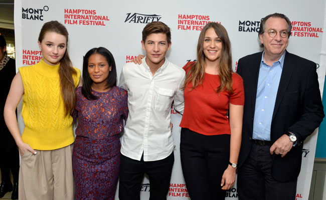 Kaitlyn Dever, Iesha Reed, Tye Sheridan, Lola Kirke and Steven Gaydos attend Variety's 10 Actors To Watch Brunch with Hilary Swank during the 2014 Hamptons International Film Festival on October 12, 2014 in East Hampton, New York. (Photo by Eugene Gologursky/Getty Images)