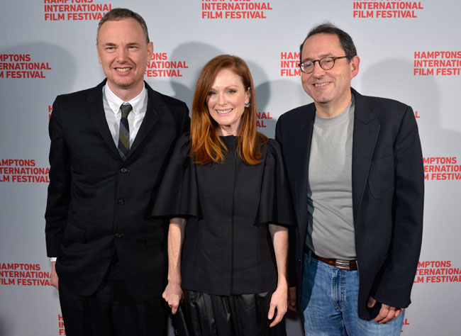 Director Wash Westmoreland, actress Julianne Moore and co-chief executive of Sony Pictures Classic Michael Barker attend the 'Still Alice' US premiere during the 2014 Hamptons International Film Festival on October 13, 2014 in East Hampton, New York. (Photo by Eugene Gologursky/Getty Images)