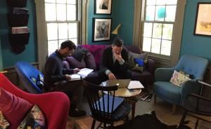 Philip Aceto and Alexander Dinelaris hard at work.