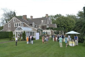 A typical private reception at the Hamptons International Film Festival.