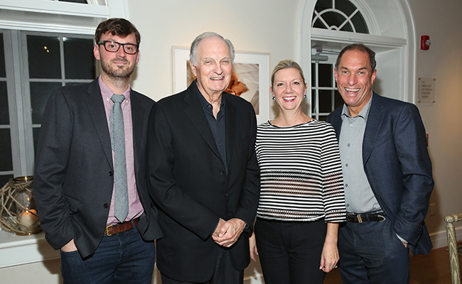 HIFF Artistic Director David Nugent, actor Alan Alda, HIFF Executive Director Anne Chaisson and HIFF Chairman Stuart Match Suna at the HIFF 2015 Closing Night Film BRIDGE OF SPIES. (Monica Schipper/Getty Images)