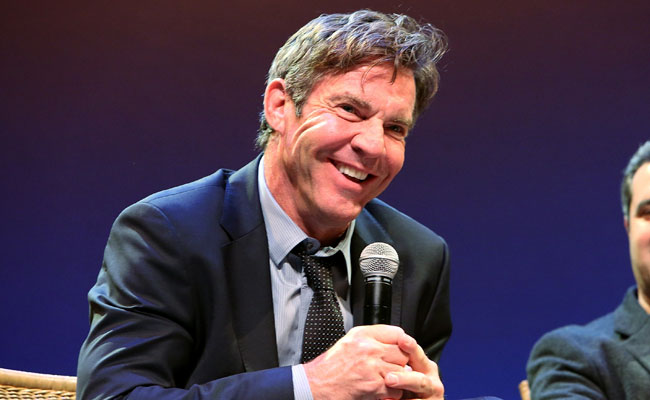 Actor Dennis Quaid in Q&A following the Opening Night screening of TRUTH at HIFF 2015. (Monica Schipper/Getty Images)