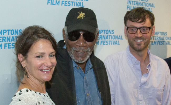 Director/Writer/Producer Meghan O'Hara, Executive Producer Morgan Freeman and HIFF Artistic Director David Nugent at the World Premiere of THE C WORD. (Photo: Jennifer Meihofer)