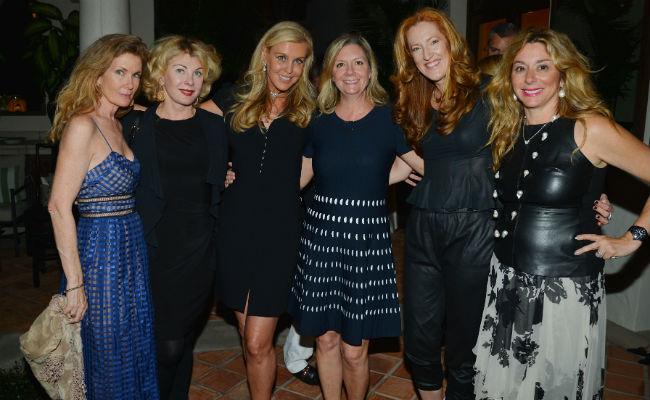 Pamela O'Connor, Paola Bacchini, Marzia Precoda, Anne Chaisson, Andrea Greeven Douzet, and Shelley Menin at the HIFF 2016 Festival Preview in Palm Beach on March 1, 2016.