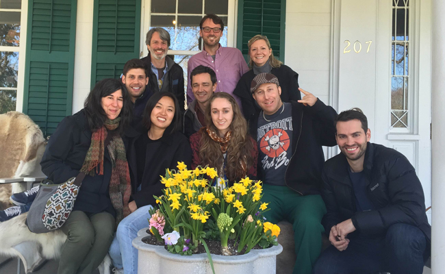 Group shot of mentors, screenwriters and HIFF staff at the 2016 HIFF Screenwriters Lab Master Class in East Hampton, NY.