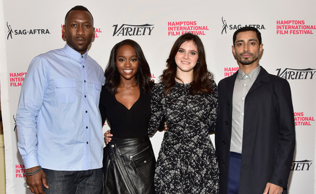 Mahershala Ali, Aja Naomi King, Kara Hayward and Riz Ahmed at the Variety 10 Actors to Watch brunch at HIFF 2016. Photo: Eugene Gologursky/Getty Images.