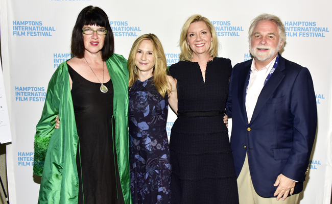 Director Katherine Dieckmann, actress Holly Hunter, Anne Chaisson and Randy Mastro attend the US Premiere of STRANGE WEATHER at HIFF 2016. Photo: Eugene Gologursky/Getty Images