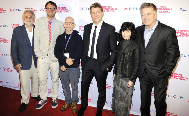 Randy Mastro, David Nugent, Bob Balaban, Jeff Nichols, Nancy Buirski and Alec Baldwin at HIFF 2016 Opening Night: LOVING. Presented by Delta and Altour. (Photo: Matthew Eisman/Getty Images)