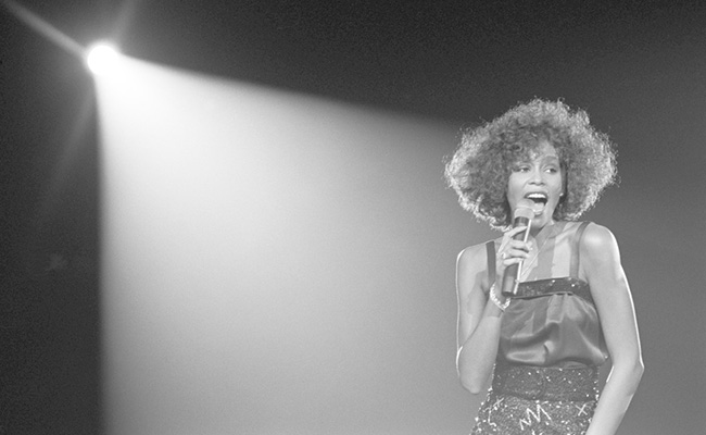 "UNITED KINGDOM - MAY 05: WEMBLEY ARENA. Whitney Houston performing on stage. WWHITNEY. ""CAN I BE ME"". Photo Credit: Photo by David Corio/Redferns/SHOWTIME Photo ID: WHITNEY_canibeme_Whitney_85342957"