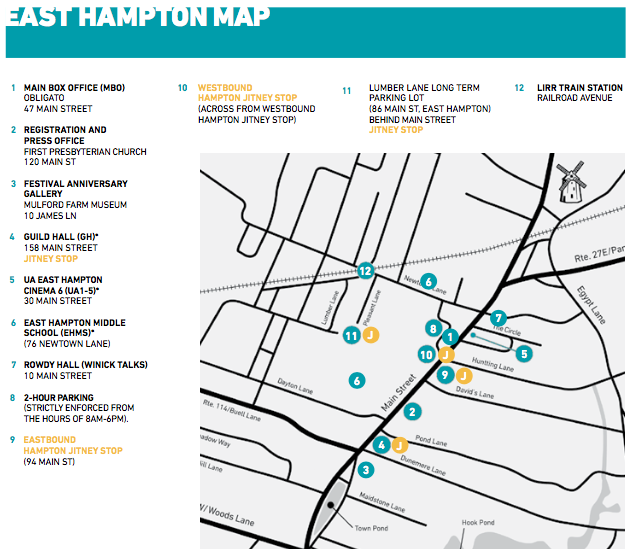 East Hampton Map HIFF25