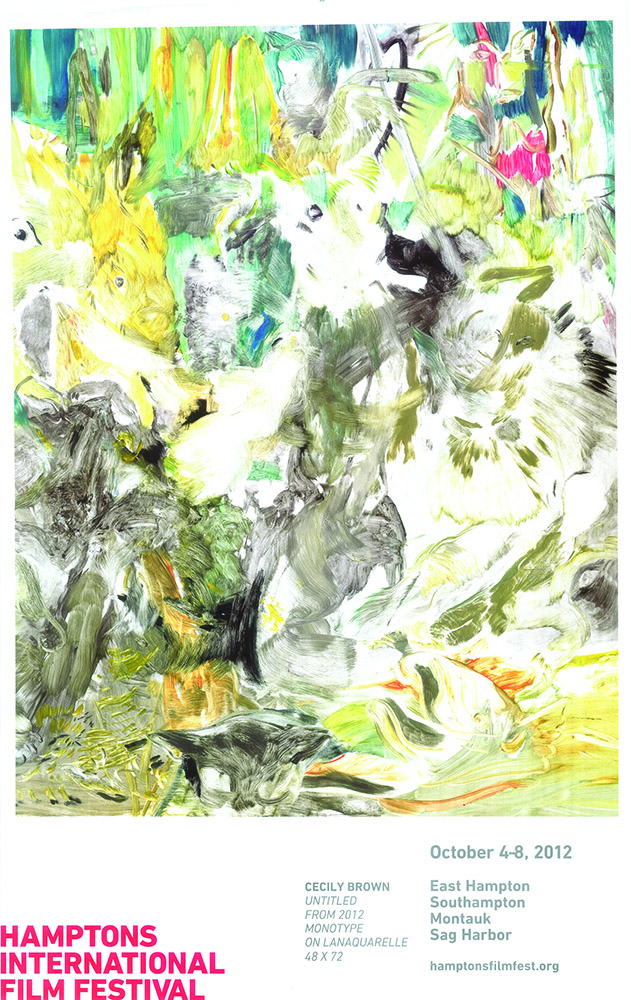 "2012. Cecily Brown, ""Untitled,"" 2012. Montotype on lanaquarelle. 48×72"