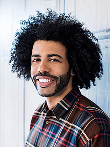 "NEW YORK, NY - MAY 06: Actor Daveed Diggs discusses ""Hamilton"" with AOL build at AOL Studios In New York on May 6, 2016 in New York City. (Photo by Roy Rochlin/FilmMagic)"