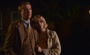 Domhnall Gleeson as 'Alan Milne' and Margot Robbie as 'Daphne Mi