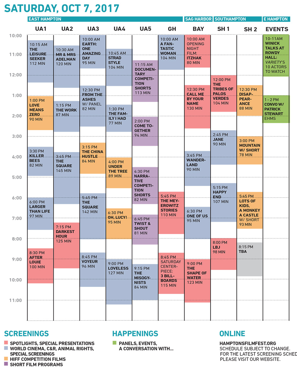 HIFF25 Saturday Grid 10-6