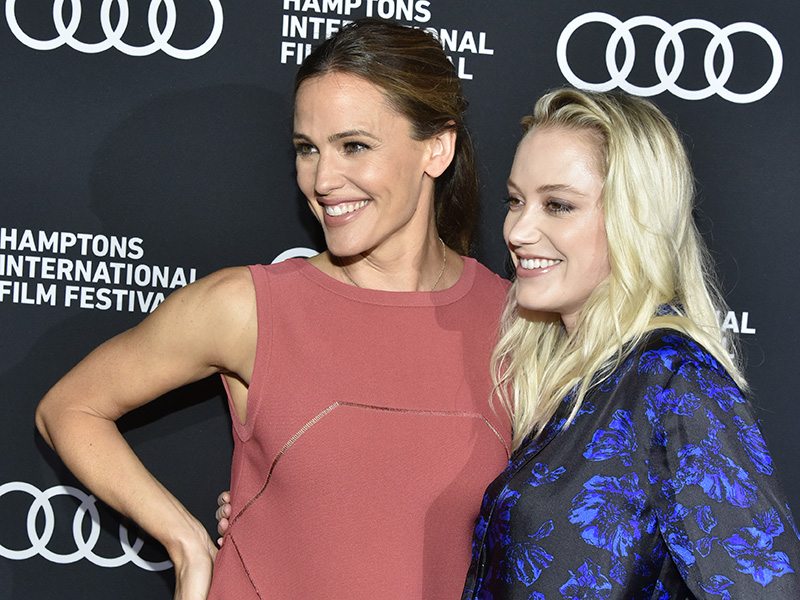 Jennifer Garner and Maika Monroe attend the World Premiere of THE TRIBES OF PALOS VERDES at HIFF25. (Photo by Eugene Gologursky/Getty Images)