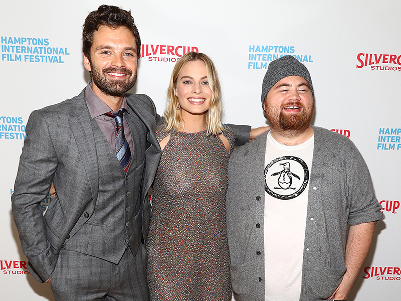 Sebastian Stan, Margot Robbie, and Paul Walter Hauser attend the US Premiere of I, TONYA, at HIFF25. (Photo by Astrid Stawiarz/Getty Images)