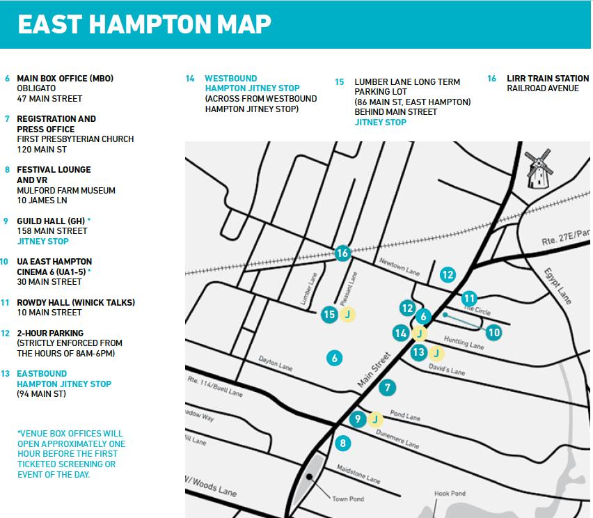East Hampton Map 2018