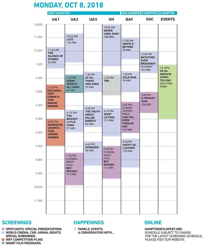 Monday grid HIFF 2018 10.2