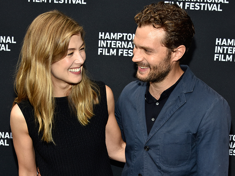 Actors Rosamund Pike and Jamie Dornan attend the Spotlight screening of A PRIVATE WAR at Guild Hall on October 7. (Photo by Eugene Gologursky/Getty Images)