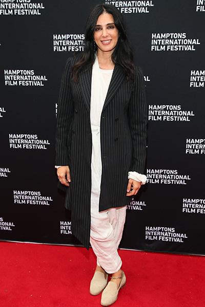 Director Nadine Labaki with Artistic Director David Nugent at the CAPERNAUM screening at Guild Hall during HIFF 2018.