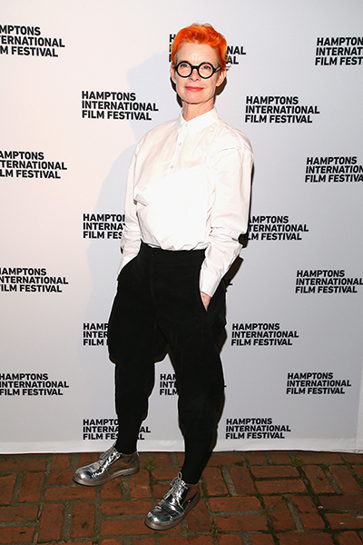 Sandy Powell at HIFF 2018. She is a double nominee for Best Costume Design this year.