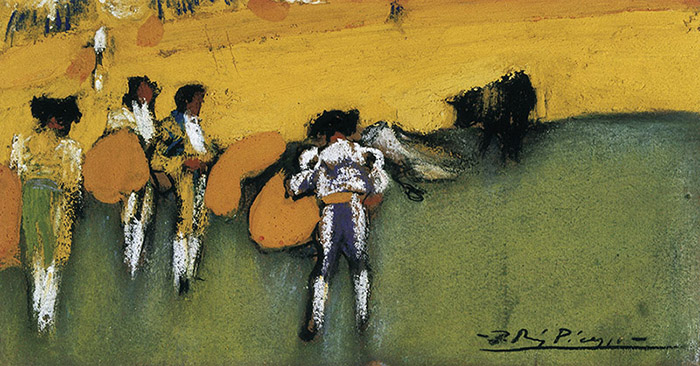 Bullfight, 1900 (pastels), Picasso, Pablo (1881-1973) / Museo del Cau Ferrat, Sitges, Barcelona, Spain / Photo © AISA / Bridgeman Images © Succession Picasso/DACS, London 2018