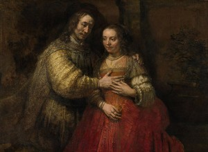 Rembrandt (1606 –1669) Portrait of a Couple as Isaac and Rebecca, known as 'The Jewish Bride' (detail), about 1665. Rijksmuseum, on loan from the City of Amsterdam (A. van der Hoop Bequest) SK-C-216 © Rijksmuseum, Amsterdam
